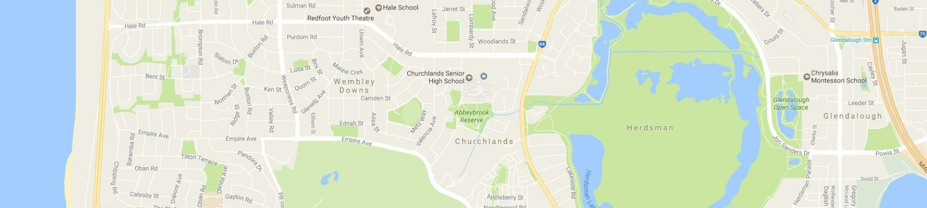 Google Map Churchlands